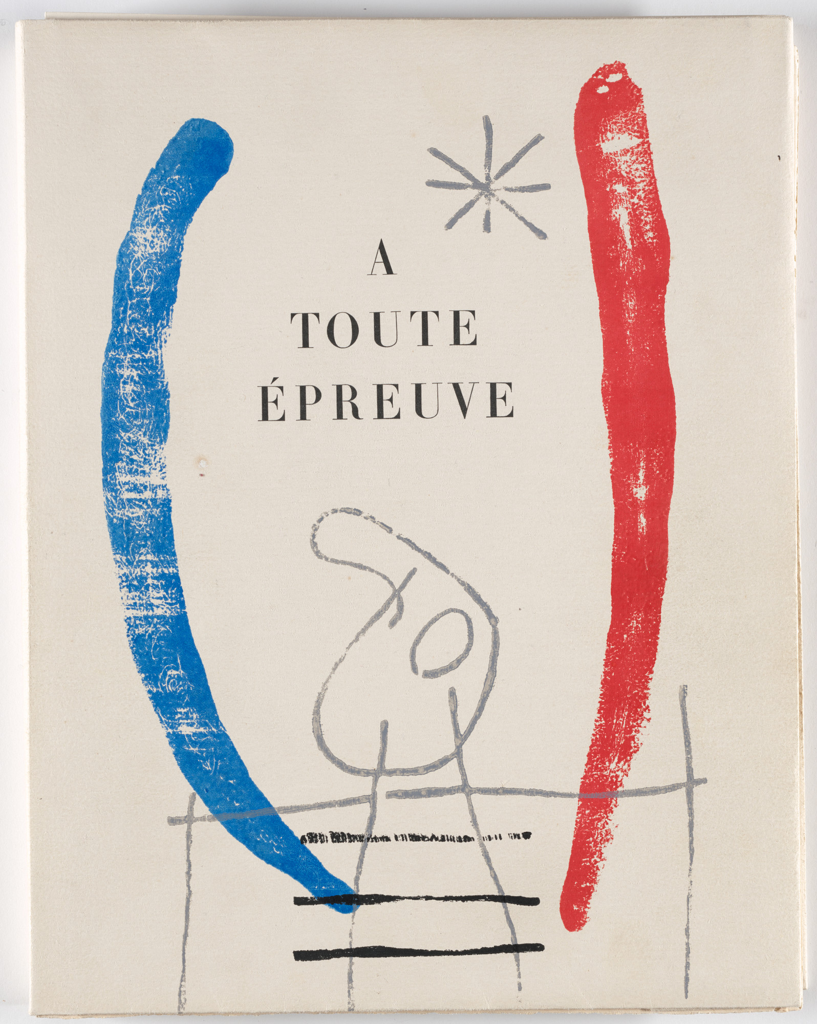 Joan Miró. Wrapper front from À toute épreuve (Proof Against All). 1947–58, published 1958