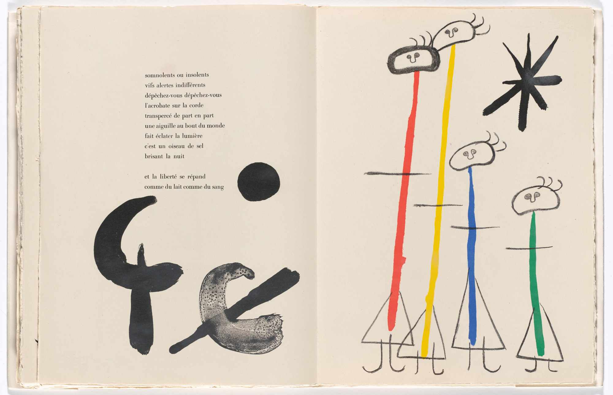 Joan Miró. Plate (page 99) from Parler seul (Speaking Alone). 1948–50, published 1950