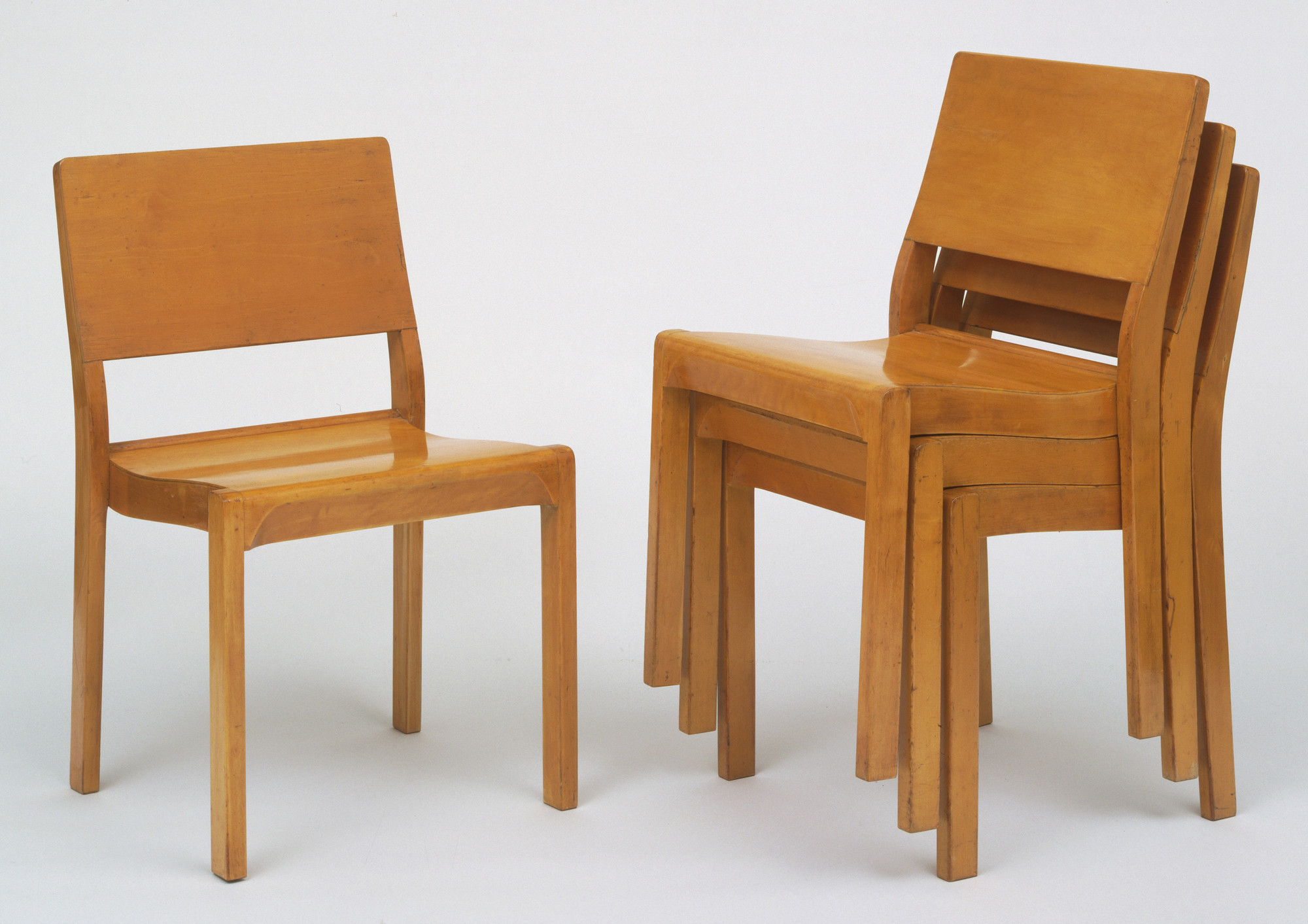 Alvar Aalto. Stacking Side Chairs. 1929