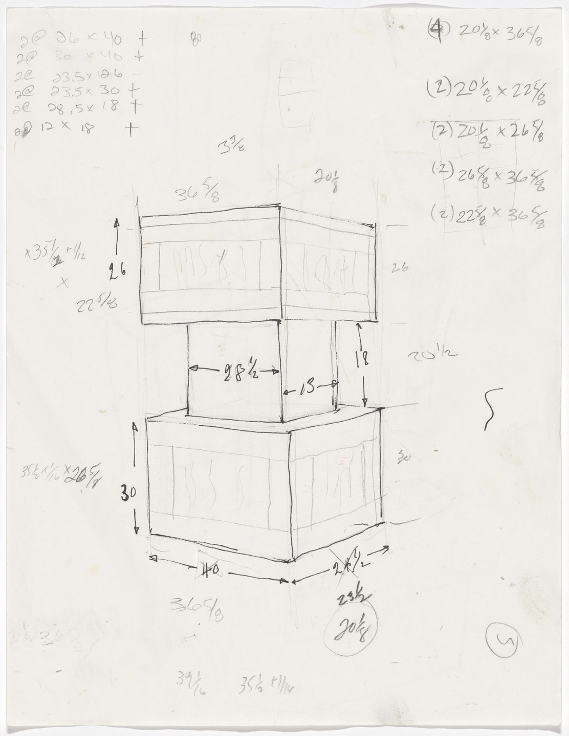 Richard Artschwager. Untitled (Stack of Crates). 1993