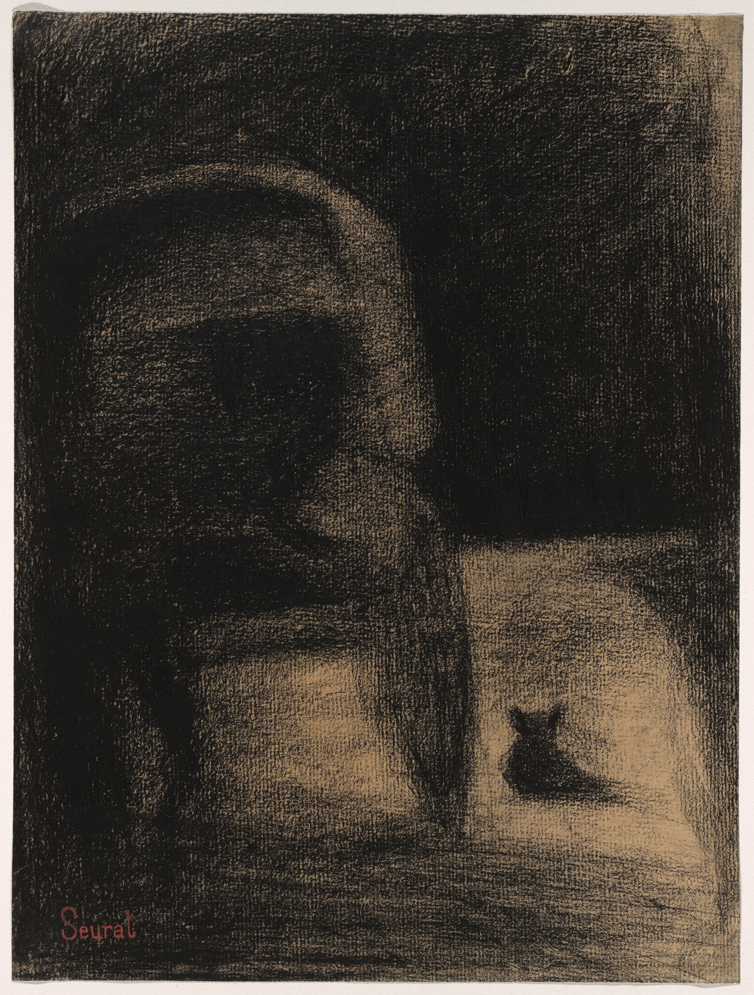 Georges-Pierre Seurat. Carriage and Dog (La Carriole et le chien). c. 1882–84