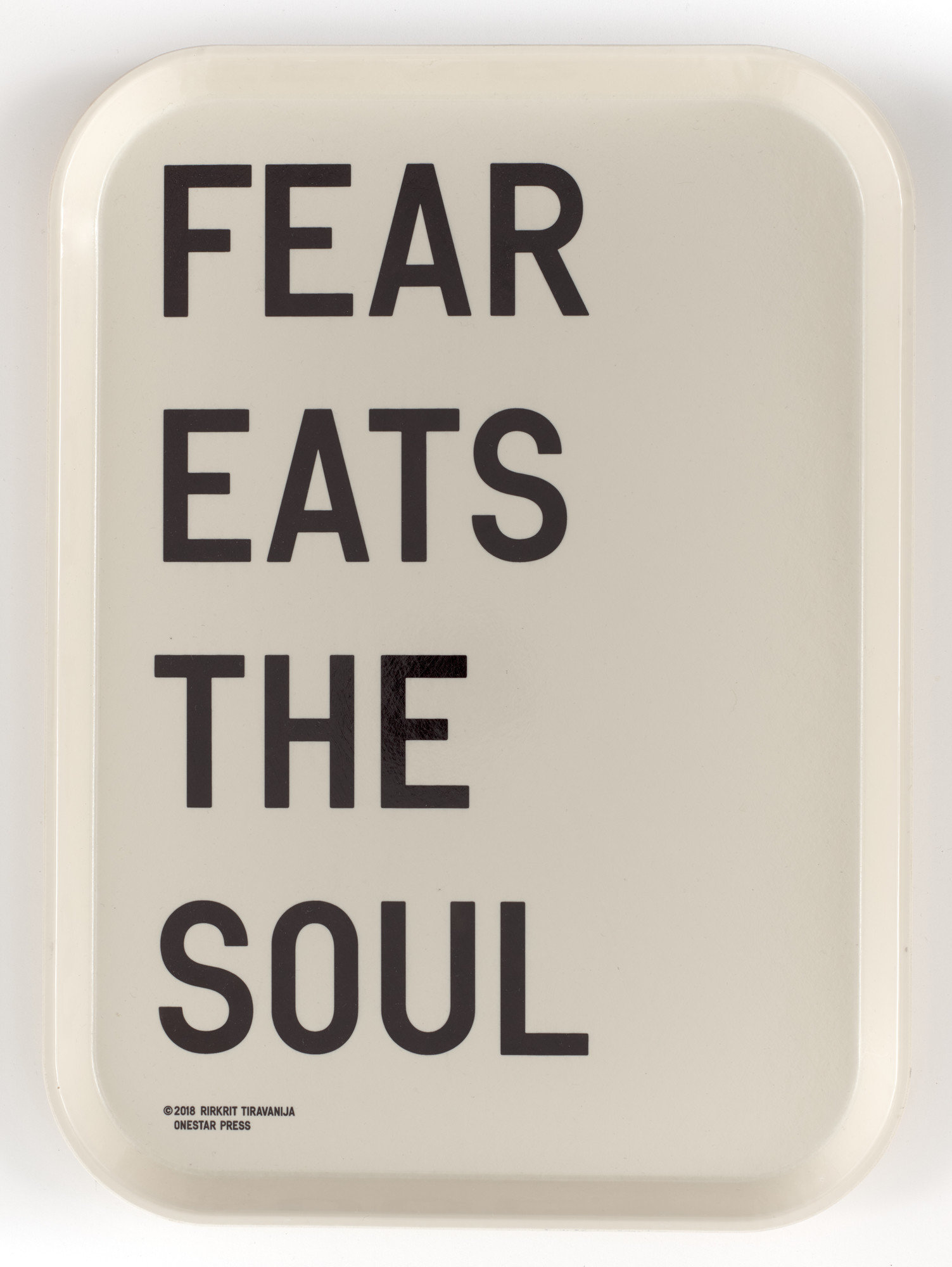 Rirkrit Tiravanija. FEAR EATS THE SOUL. 2018