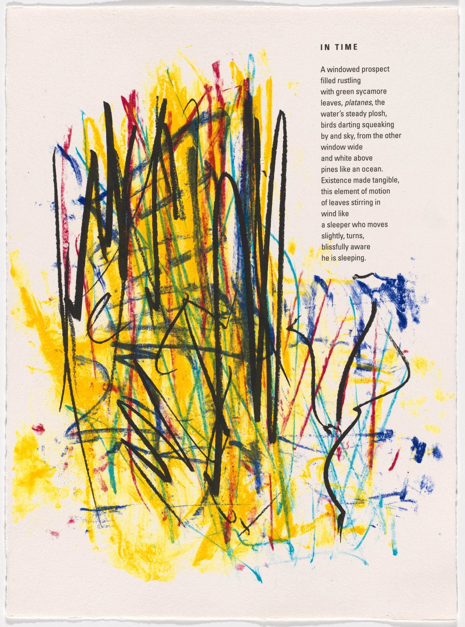 Joan Mitchell. In-text plate (folio 3) from Poems. 1992
