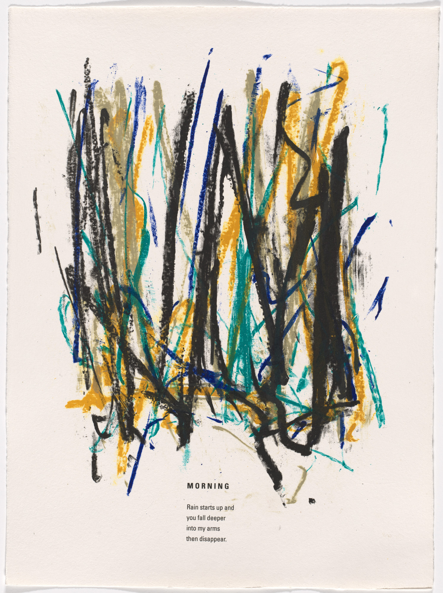 Joan Mitchell. In-text plate (folio 4) from Poems. 1992