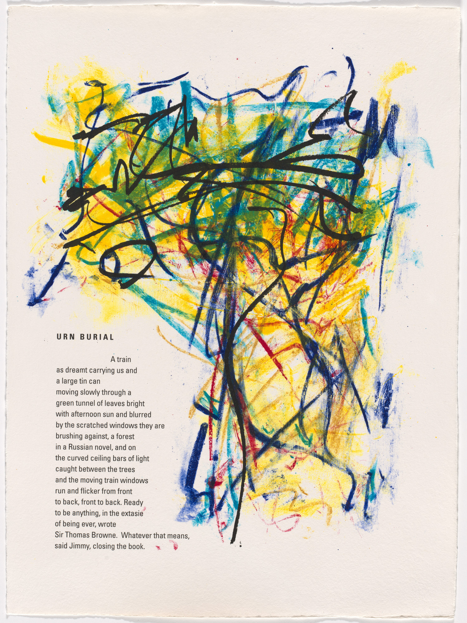 Joan Mitchell. In-text plate (folio 10) from Poems. 1992