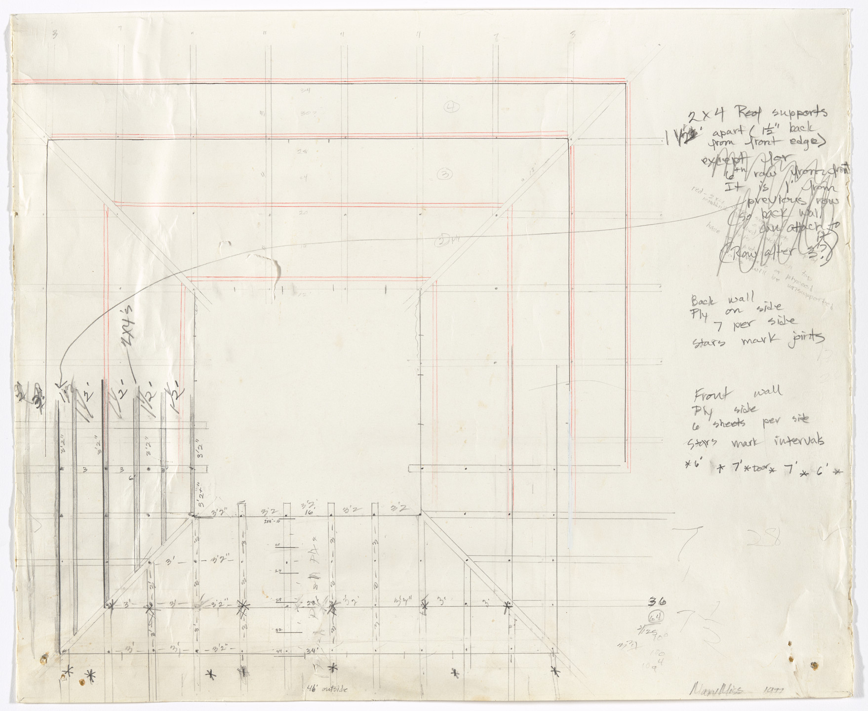 Mary Miss. Study for Tower in Perimeters/Pavilions/Decoys. 1977