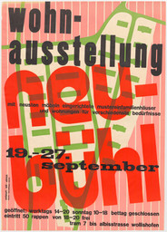 Max Bill. Poster for an exhibition on the Neubühl housing project (Wohnausstellung Neubühl), Zürich. 1931