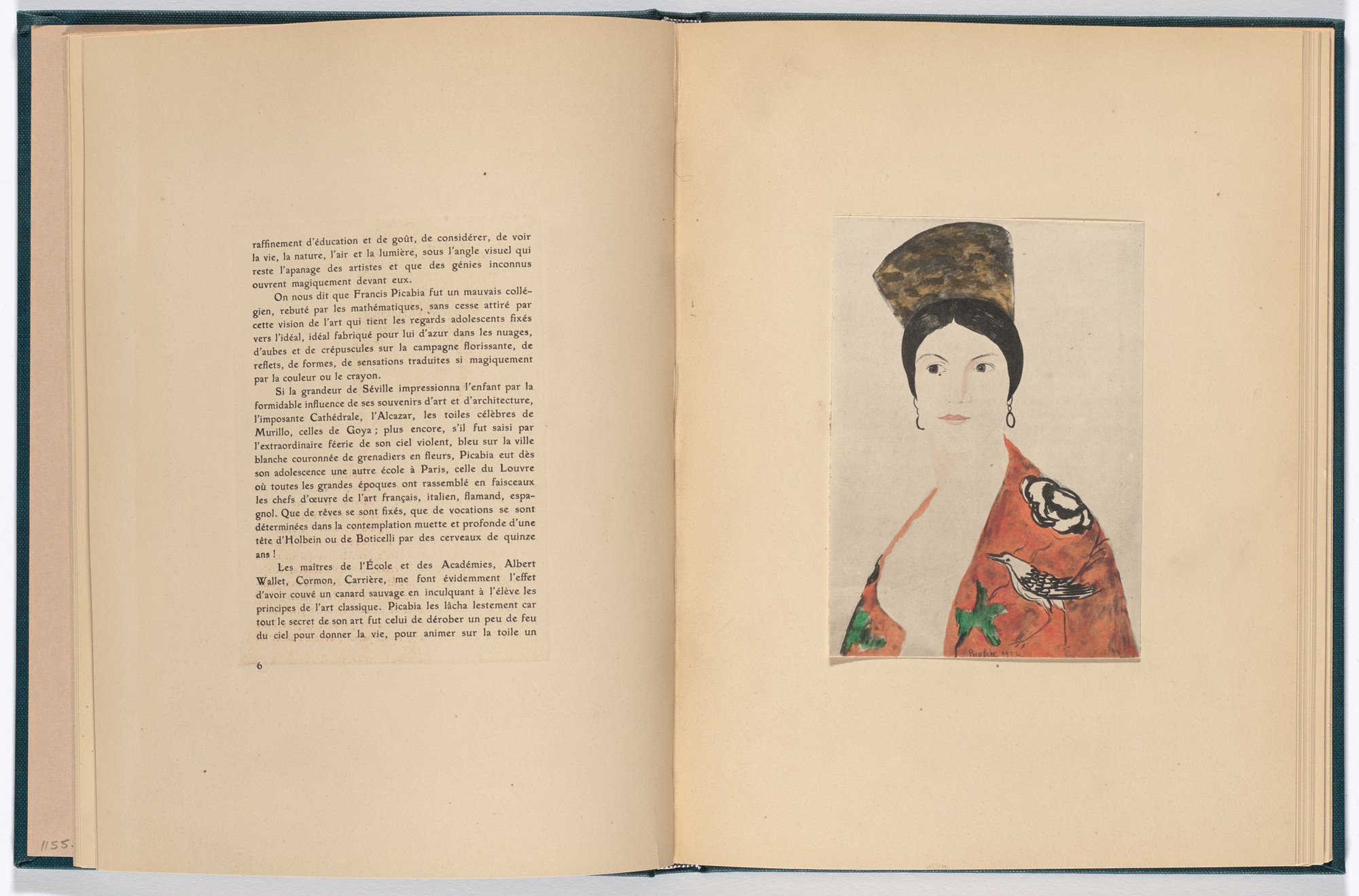 Francis Picabia. Reproduction of Espagnole (Spanish Woman) (facing page 6) from Monographie Francis Picabia (Francis Picabia Monograph). 1920
