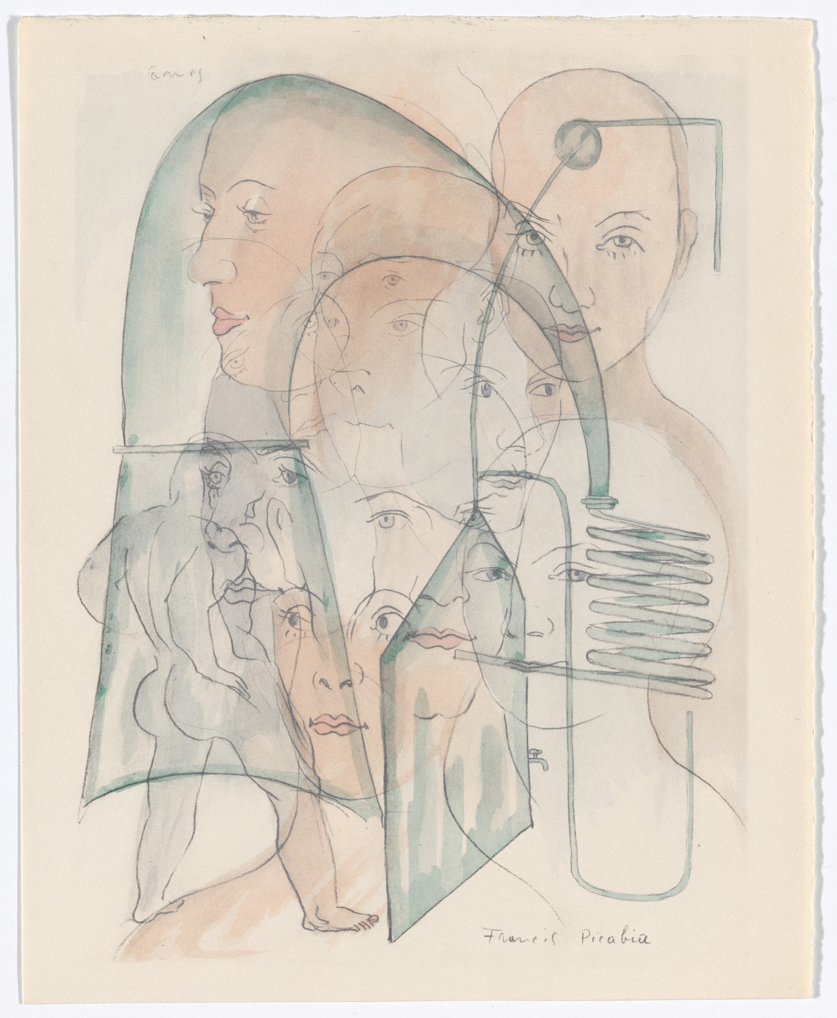 Francis Picabia. Duplicate of Âmes (Souls) from Le Peseur d'âmes (The Weigher of Souls). 1931