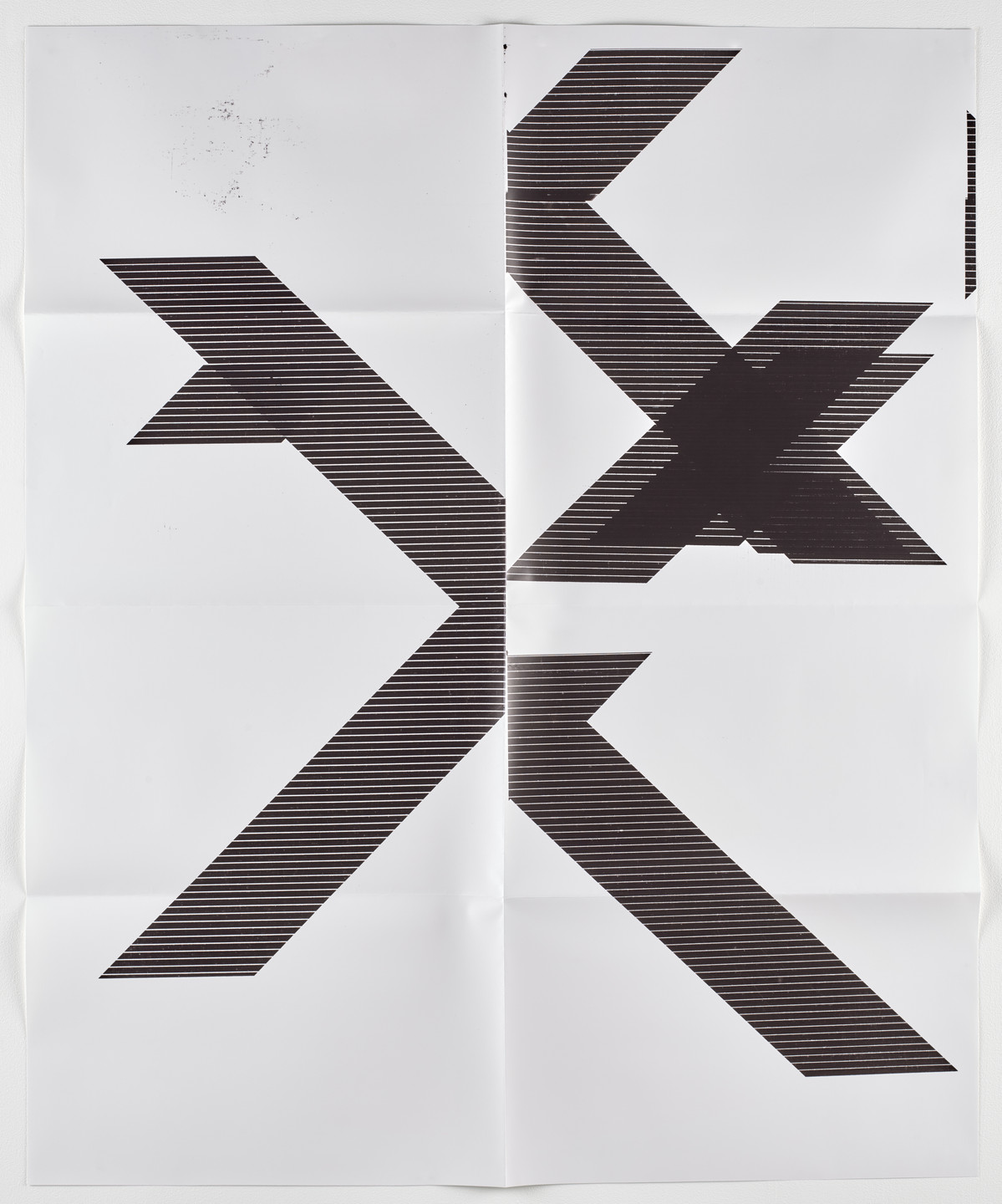 Wade Guyton. X Poster (Untitled, 2007, Epson UltraChrome inkjet on linen, 84 x 69 inches, WG1210). 2018