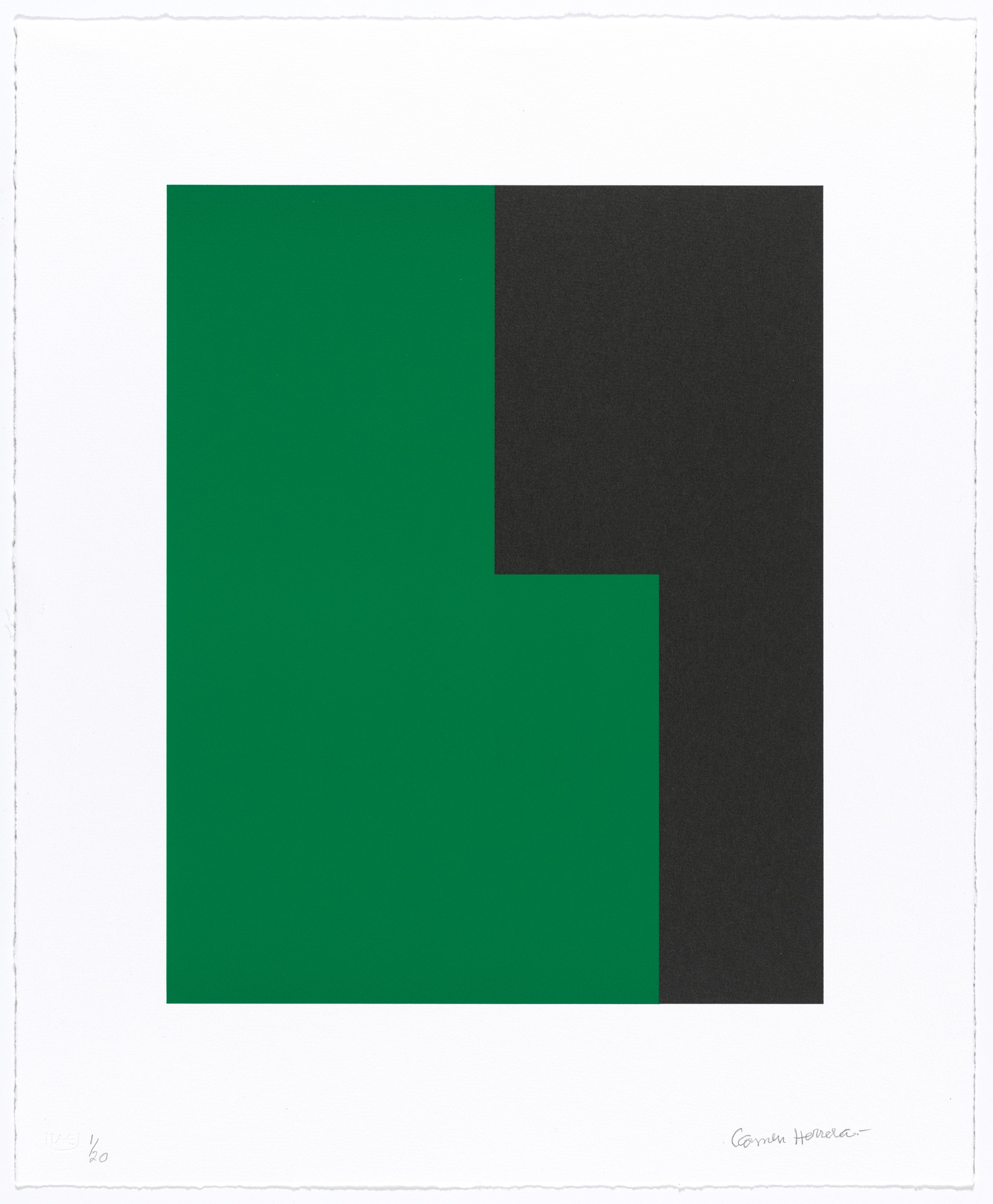 Carmen Herrera. Untitled from Verde y Negro. 2017