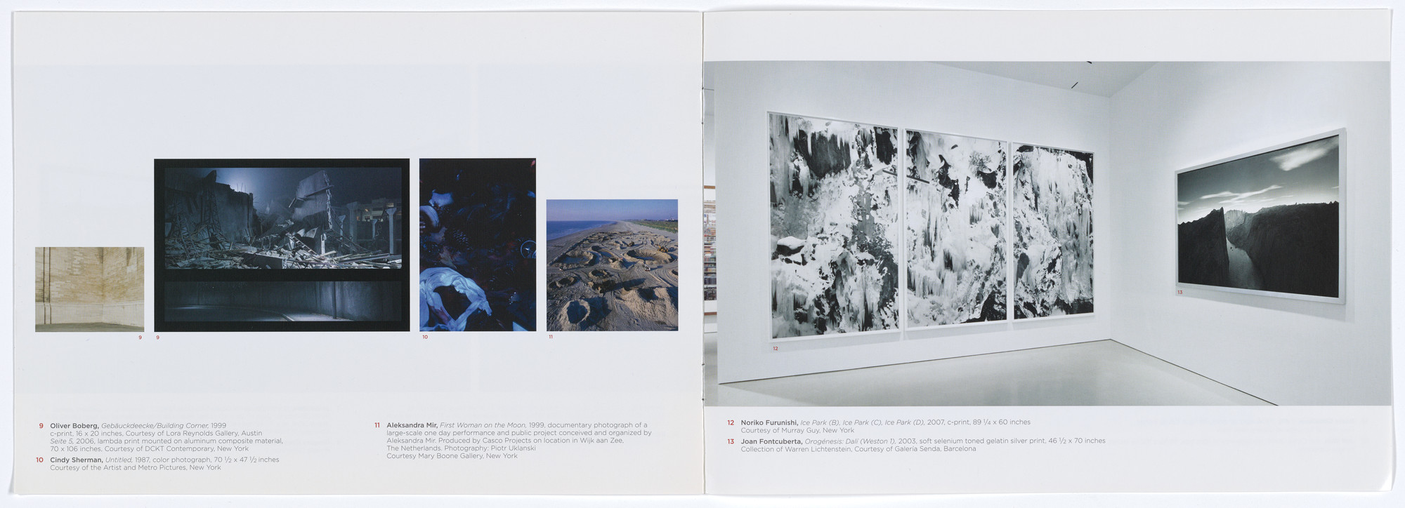 Aleksandra Mir. Brochure for Vague Terrain: Analogues of Place in Contemporary Photography, The FLAG Art Foundation, May 8–September 1, 2009. 2009