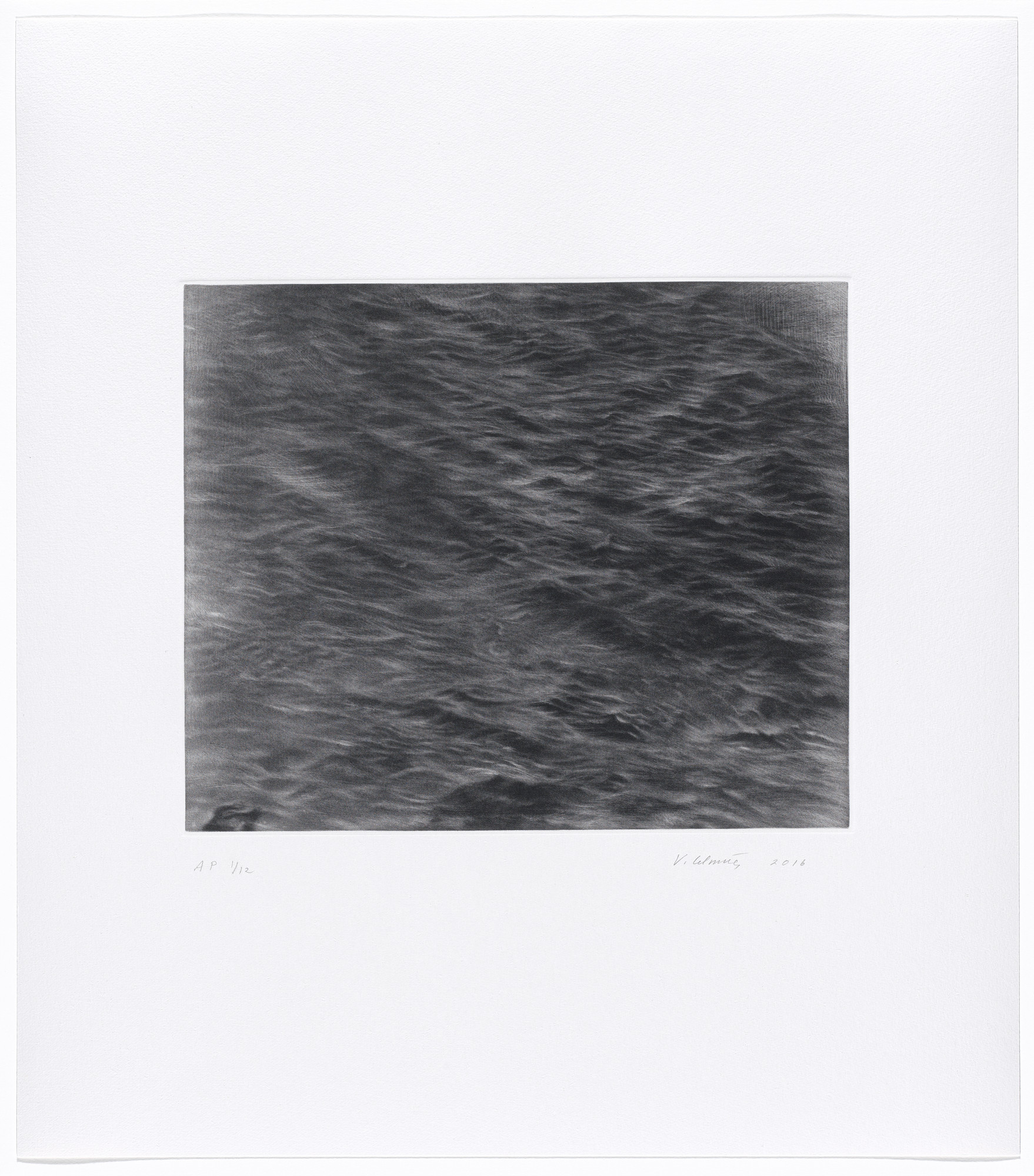 Vija Celmins. Untitled Ocean. 2016