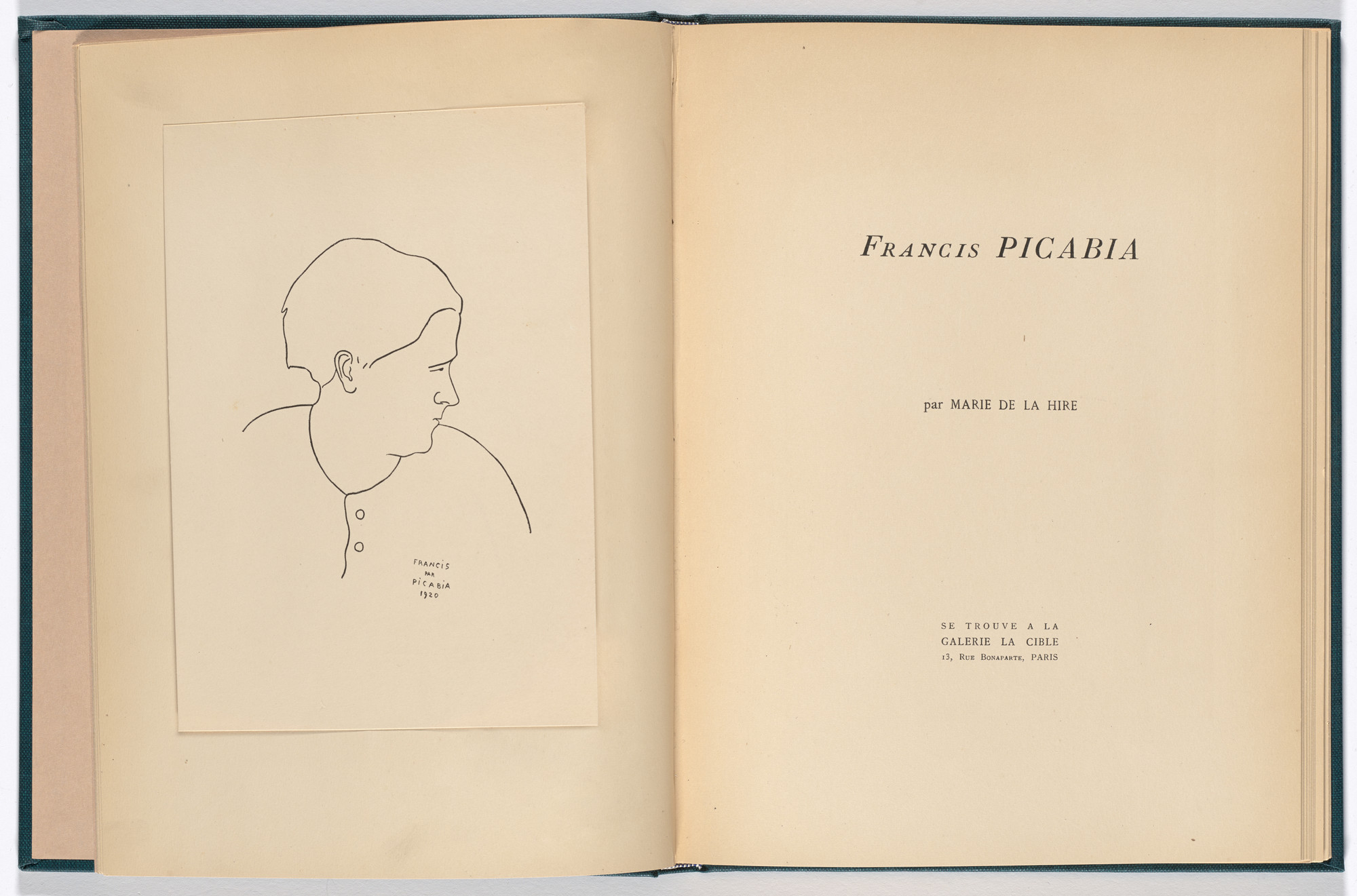 Francis Picabia. Reproduction of Francis par Picabia 1920 (frontispiece) from Monographie Francis Picabia (Francis Picabia Monograph). 1920