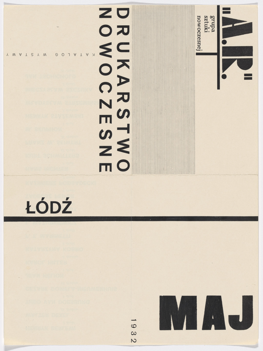 a.r. Group. Brochure for an exhibition of Modern Printing (Drukarstwo Nowoczesne), Łódź, Poland. 1932