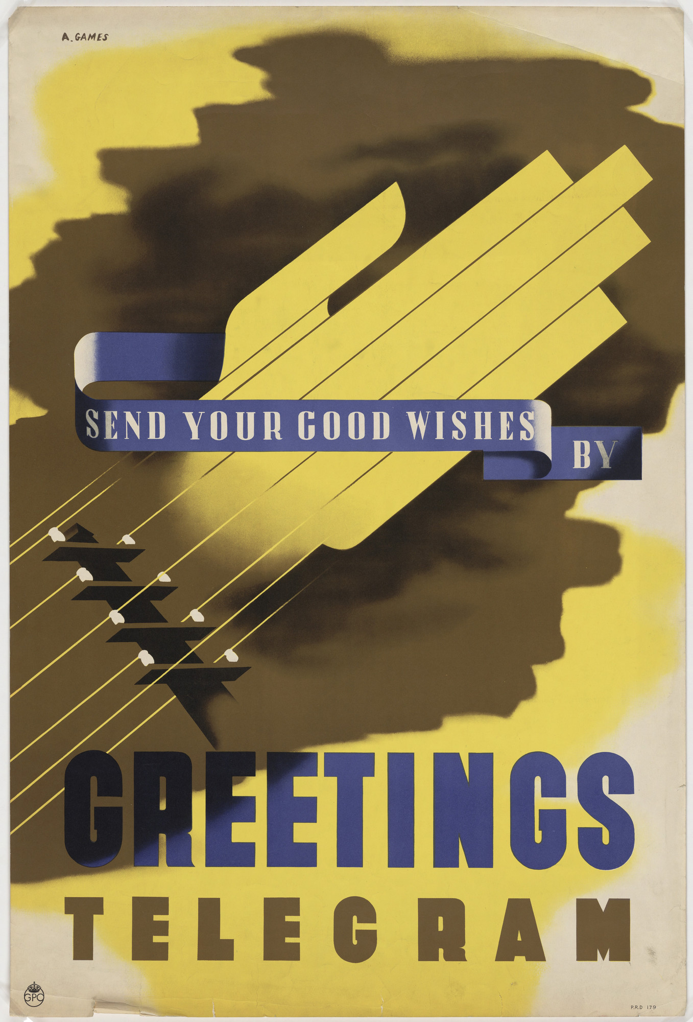 Abram Games Send Your Good Wishes By Greetings Telegram C 1939 43