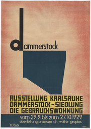 Kurt Schwitters. Poster for the exhibition Dammerstock Housing Estate: The Functional Dwelling (Dammerstock-Siedlung: Die Gebrauchswohnung). 1929