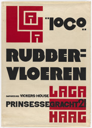Piet Zwart. Poster for the rubber flooring manufacturer LAGA. 1922