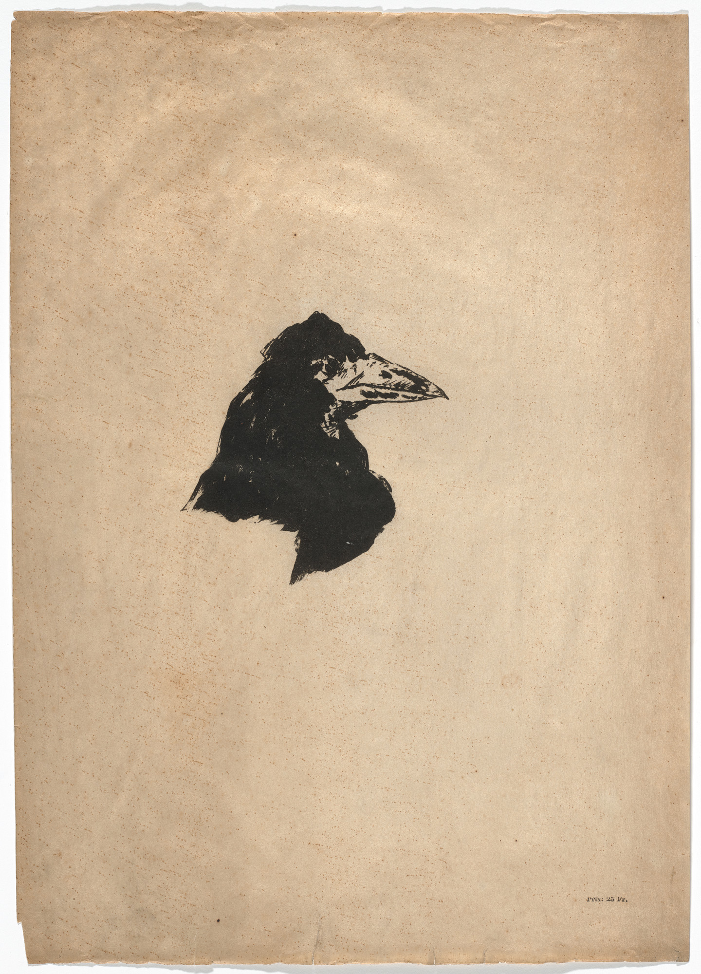 Édouard Manet. Tête de profil (Head of a Raven in Profile) (frontispiece) from Le Corbeau (The Raven). 1875