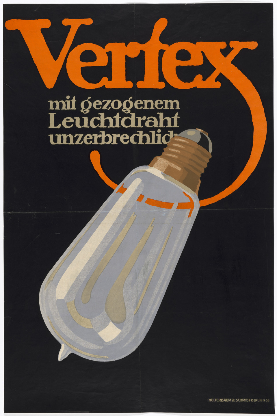 Lucian Bernhard. Poster for the Vertex lighting company. 1912