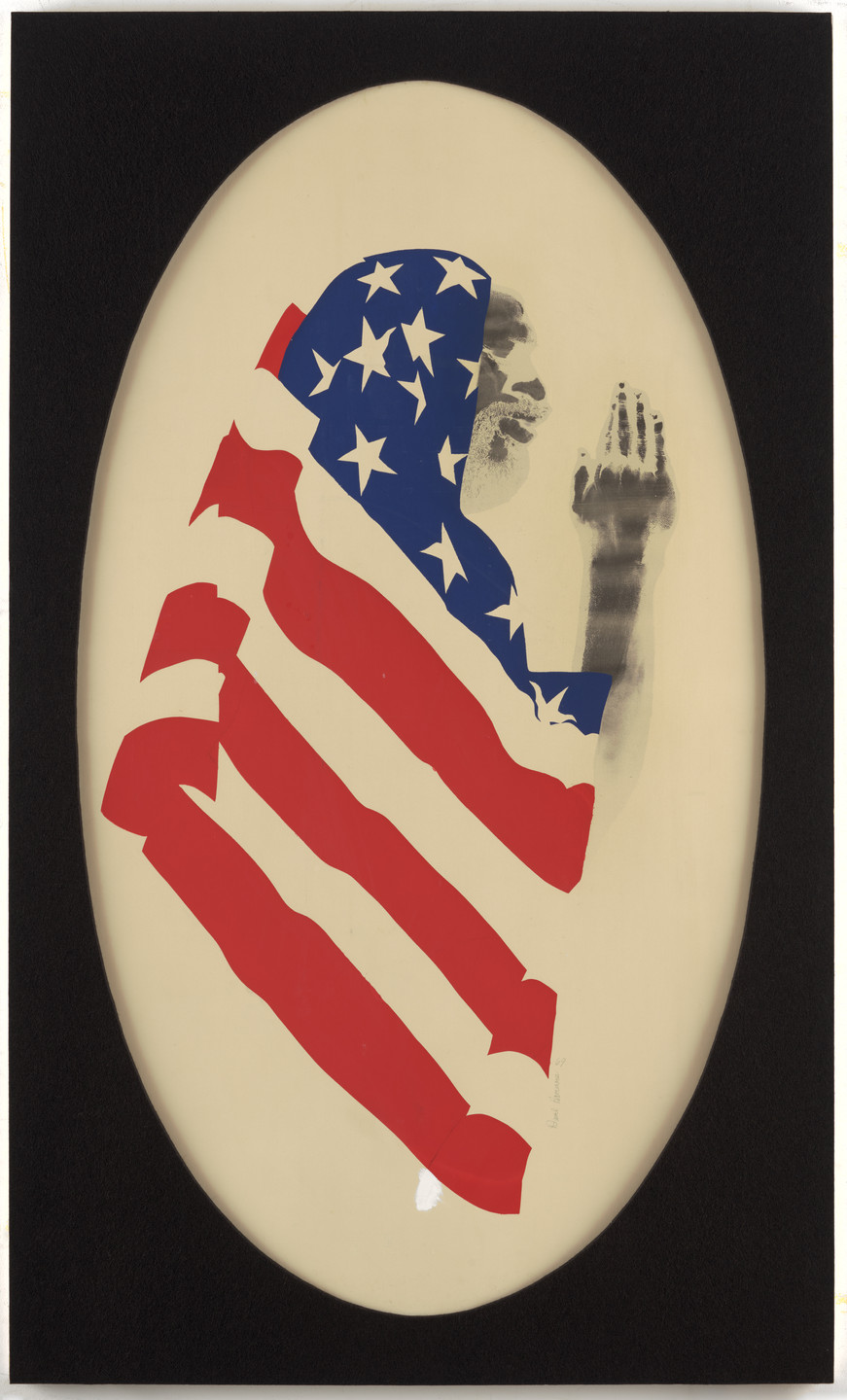 David Hammons. Pray for America. 1969