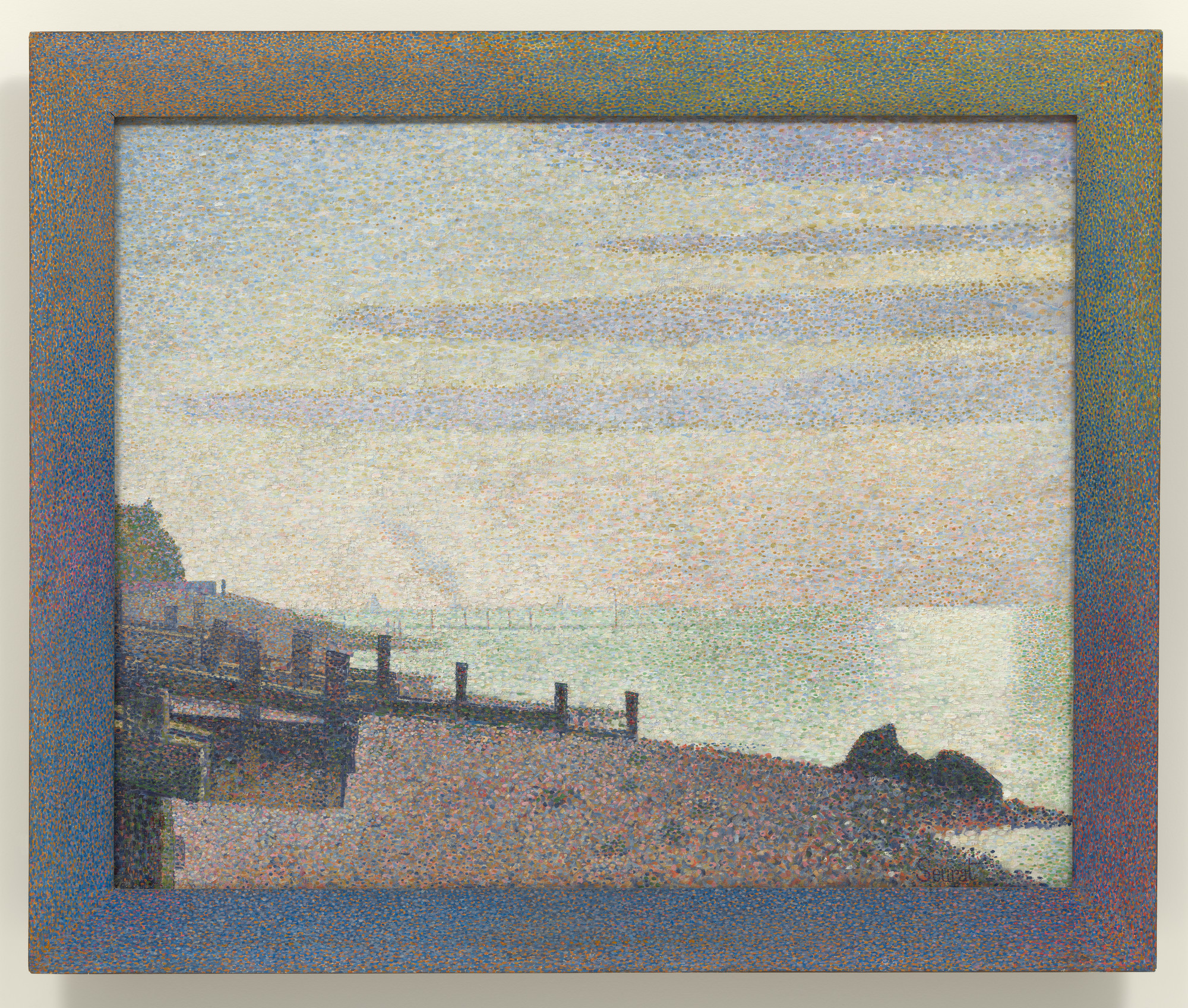 Georges-Pierre Seurat. Evening, Honfleur. 1886