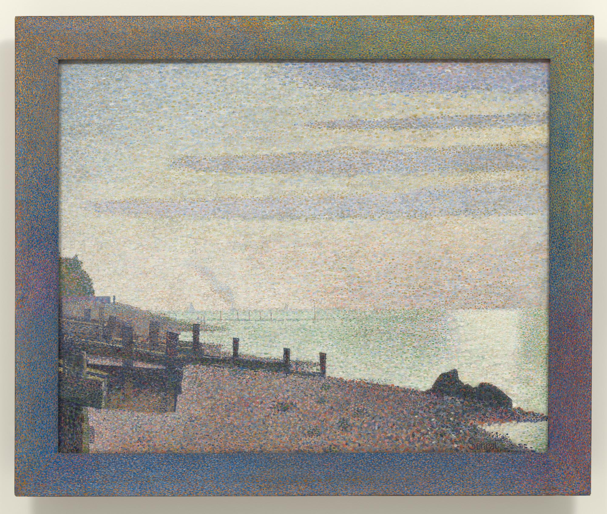 Georges-Pierre Seurat  Evening, Honfleur  1886   MoMA