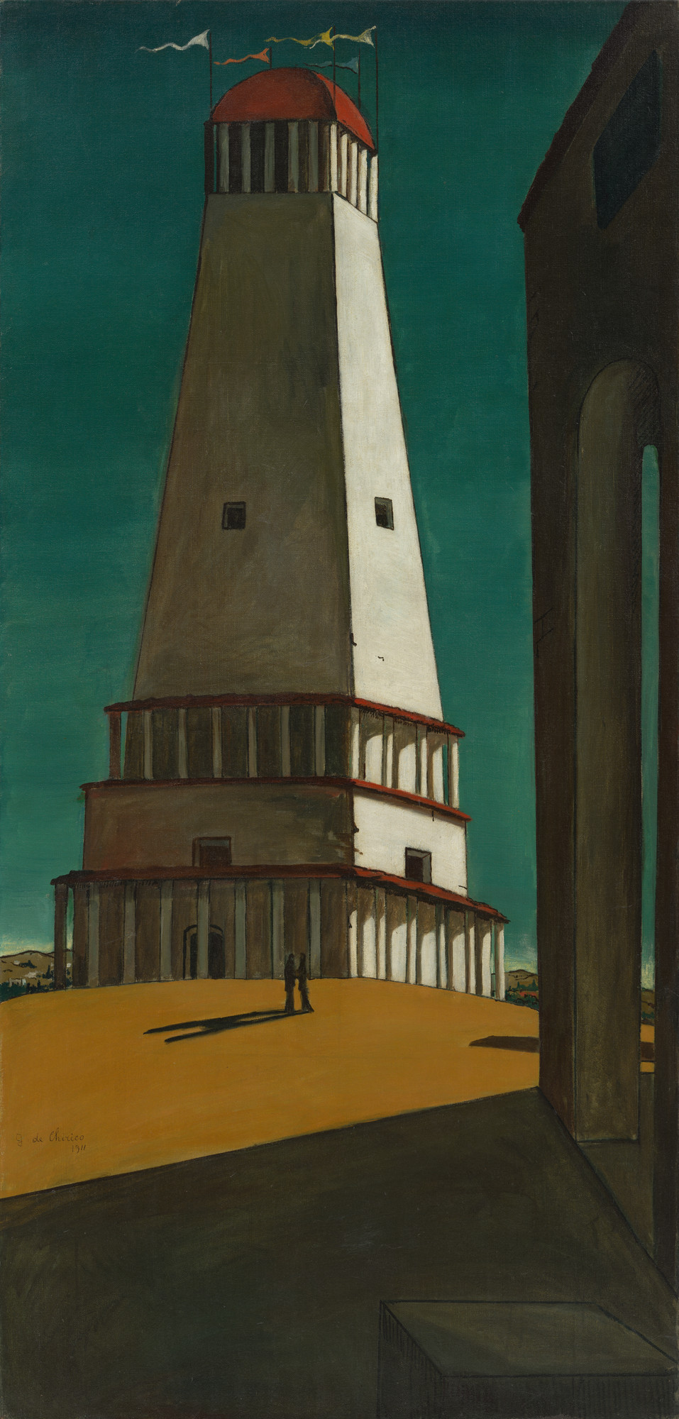 Giorgio de Chirico. The Nostalgia of the Infinite. Paris 1912-13? (dated on painting 1911)