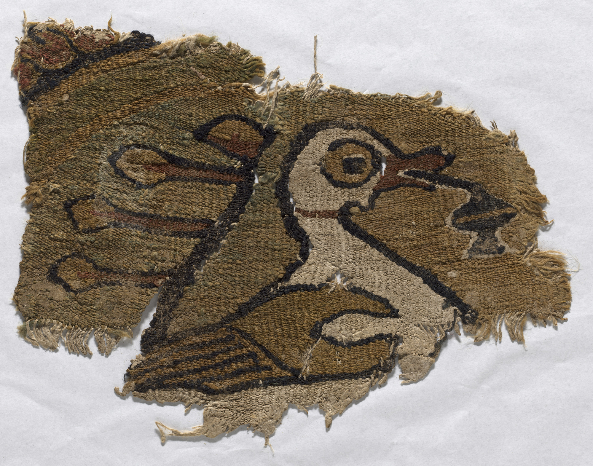 Unknown designer. Rondel fragment with water fowl. 4th-6th century C.E.