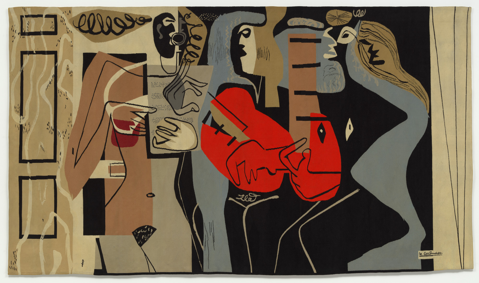 Le Corbusier (Charles-Édouard Jeanneret). Muralnomad Tapestry 'Les Musiciennes'. 1953