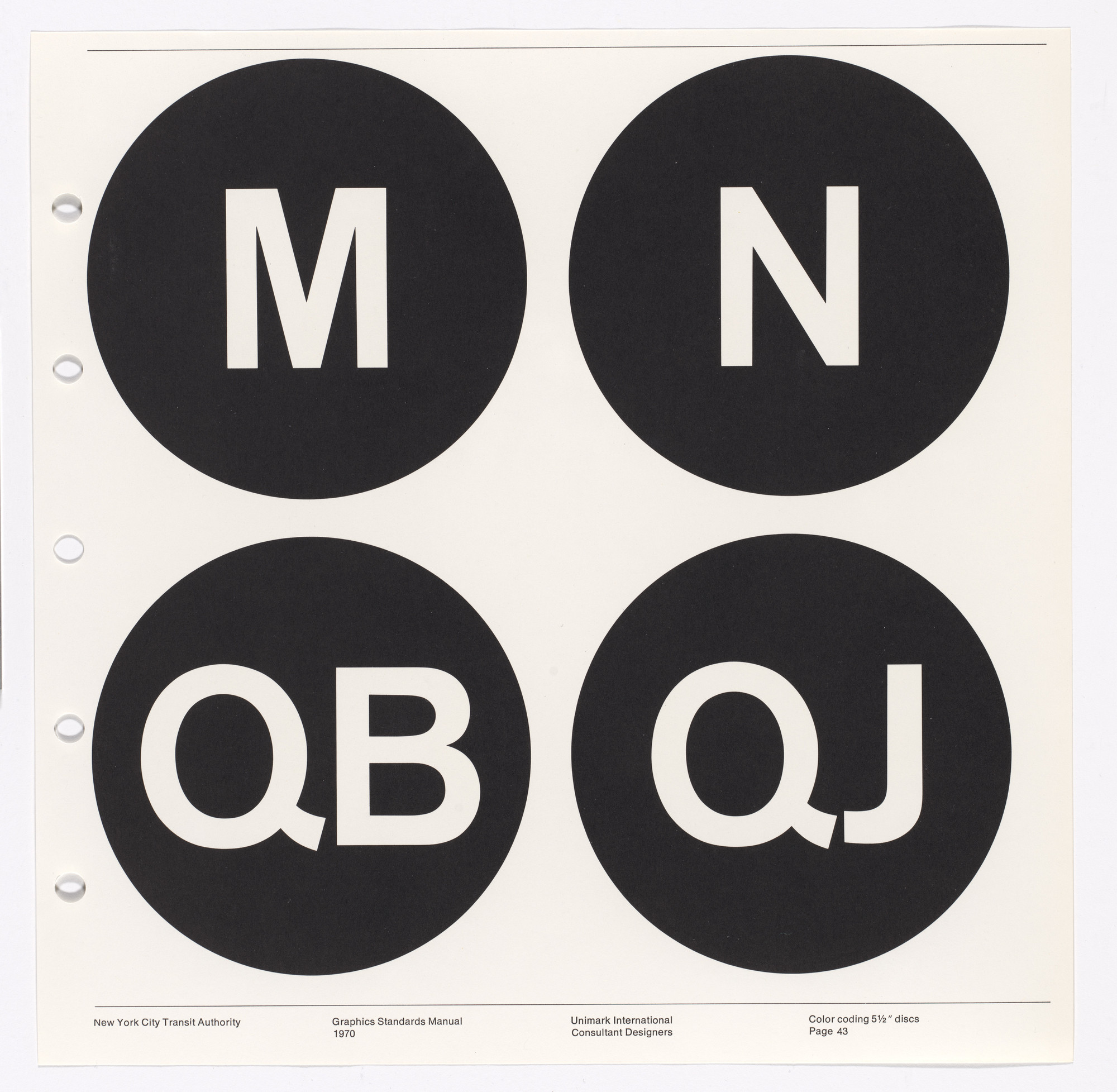 Massimo Vignelli, Bob Noorda, Unimark International Corporation, New York. New York City Transit Authority  Graphics Standards Manual. 1966-70