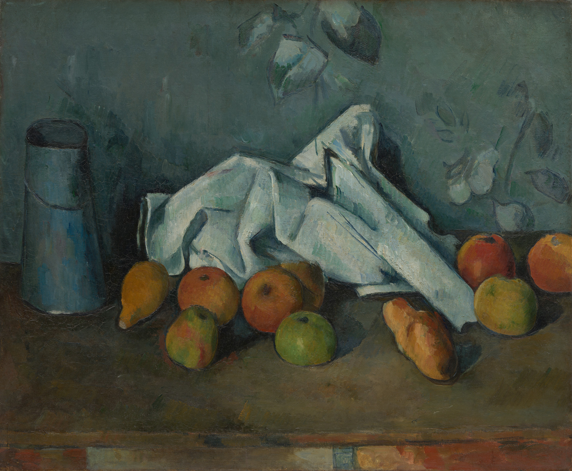 Paul Cézanne. Milk Can and Apples. 1879-80