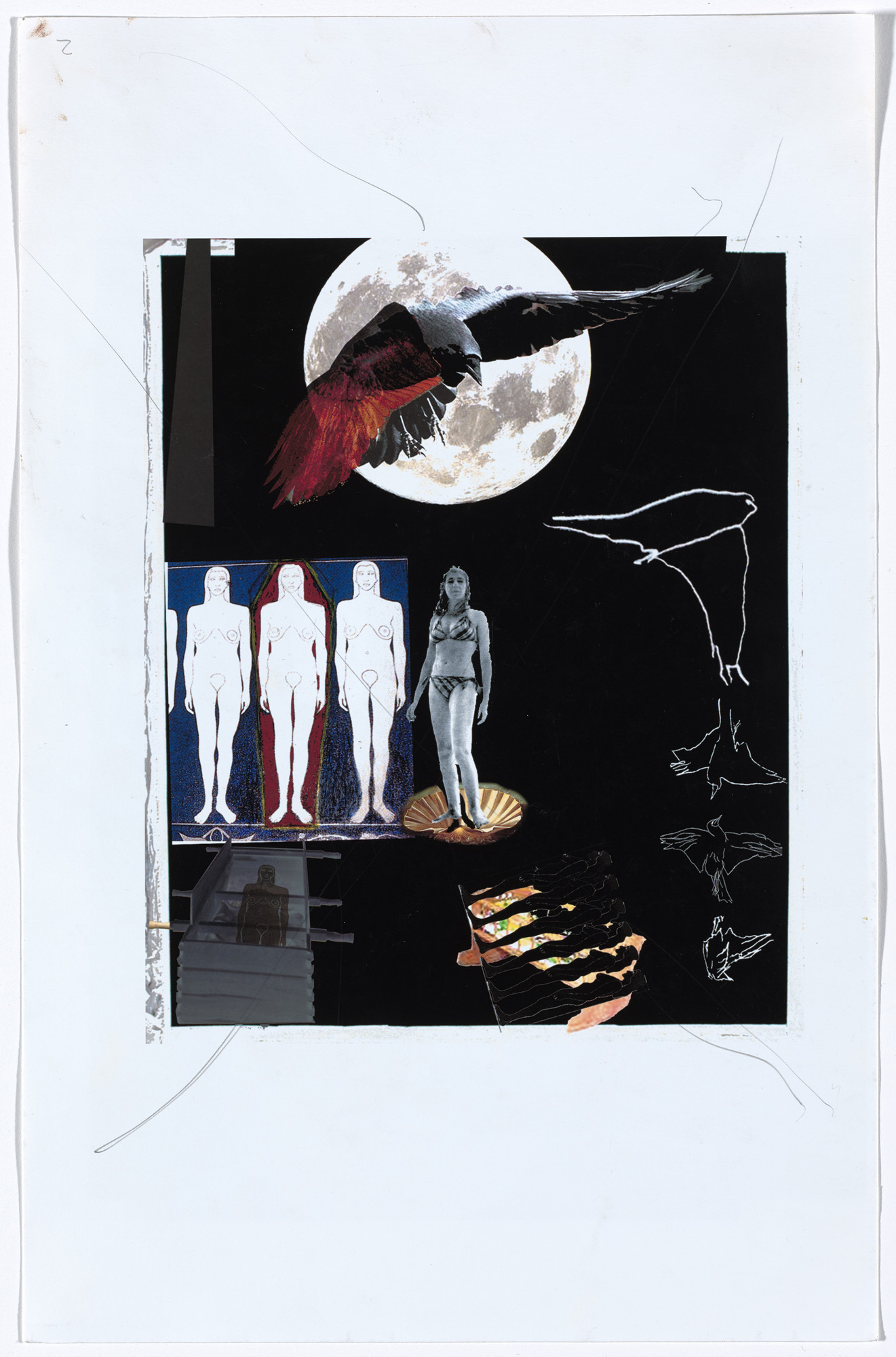 Jo Baer. Study for Memorial for an Art World Body (Nevermore). 2009