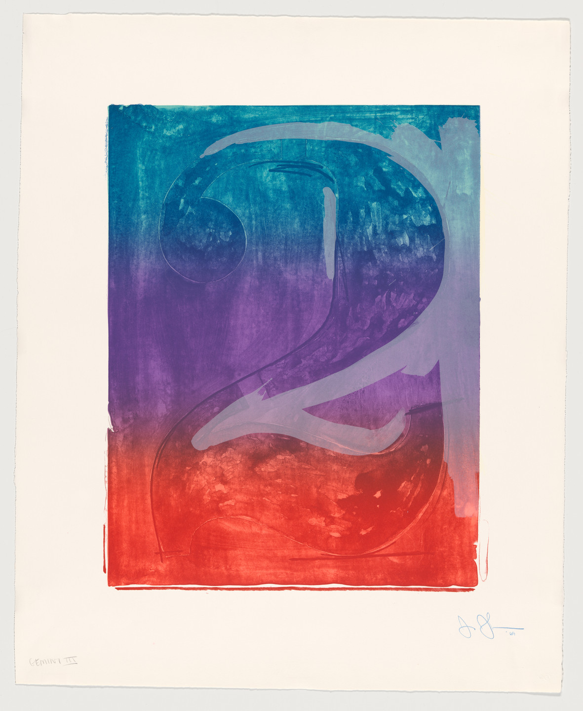 Jasper Johns. Figure 2 from Color Numeral Series. 1969