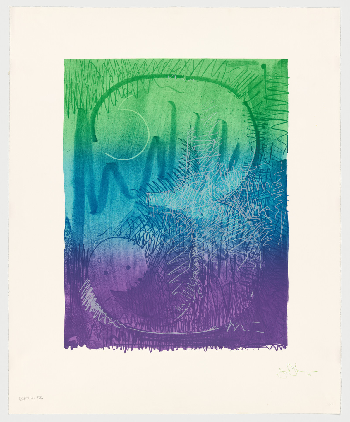 Jasper Johns. Figure 3 from Color Numeral Series. 1969