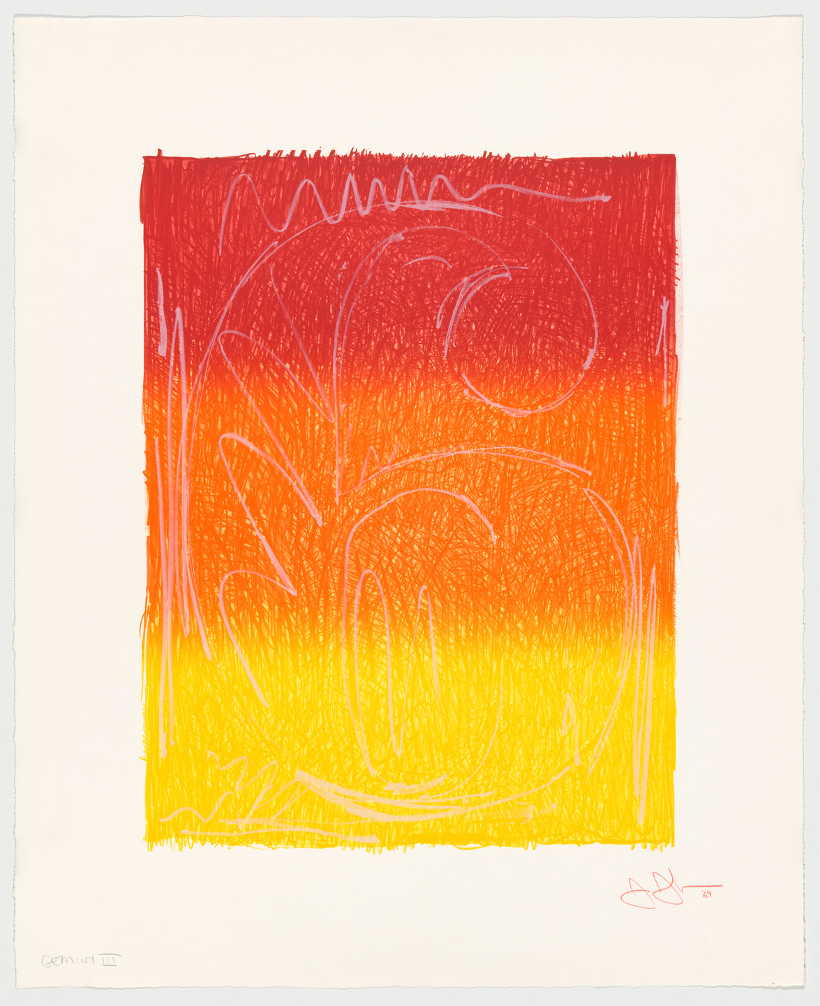 Jasper Johns. Figure 6 from Color Numeral Series. 1969