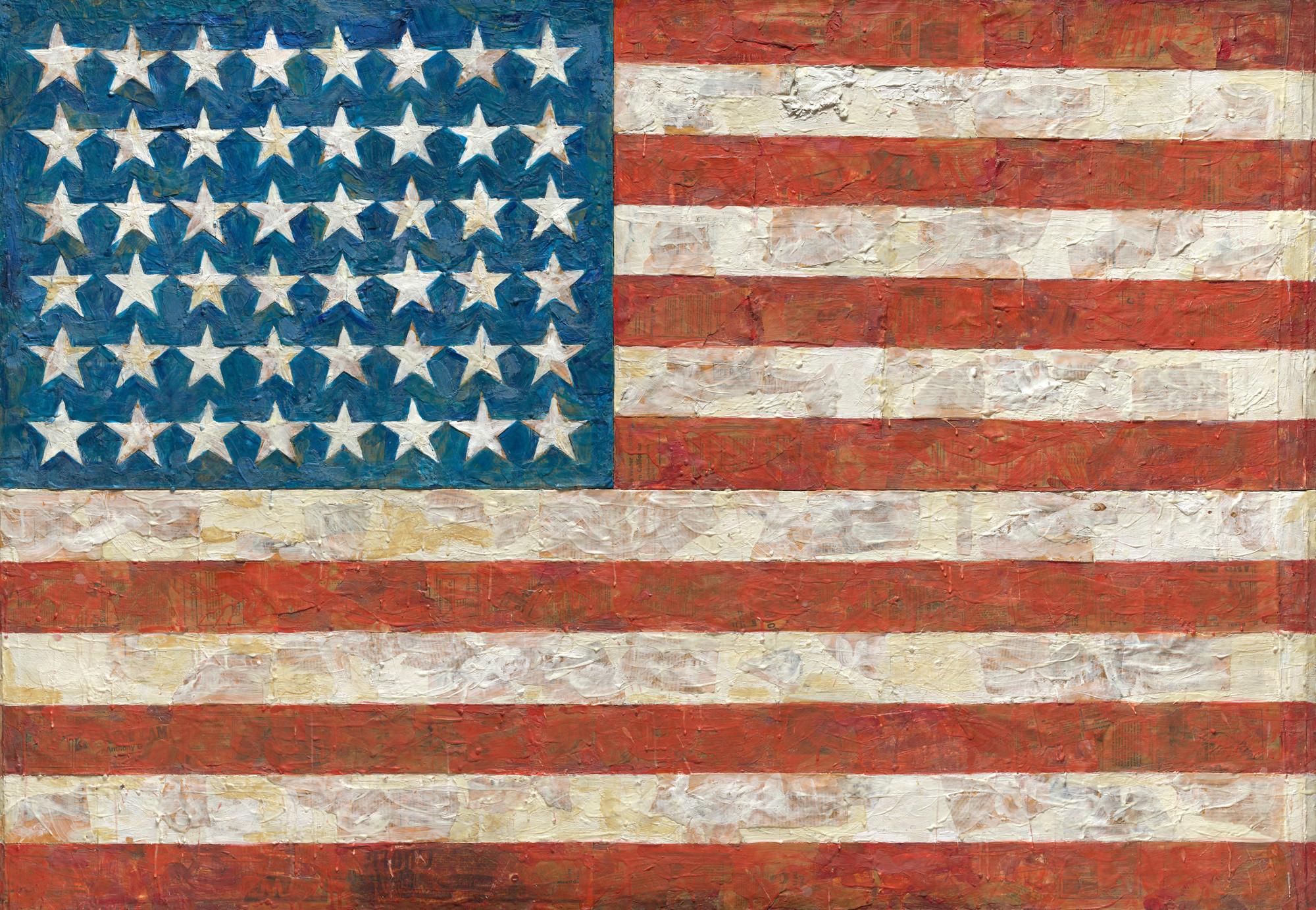 Jasper Johns. Flag. 1954-55 (dated on reverse 1954) | MoMA