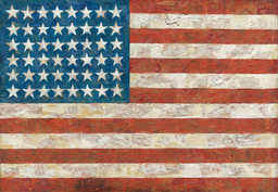Jasper Johns. Flag. 1954-55  (dated on reverse 1954)