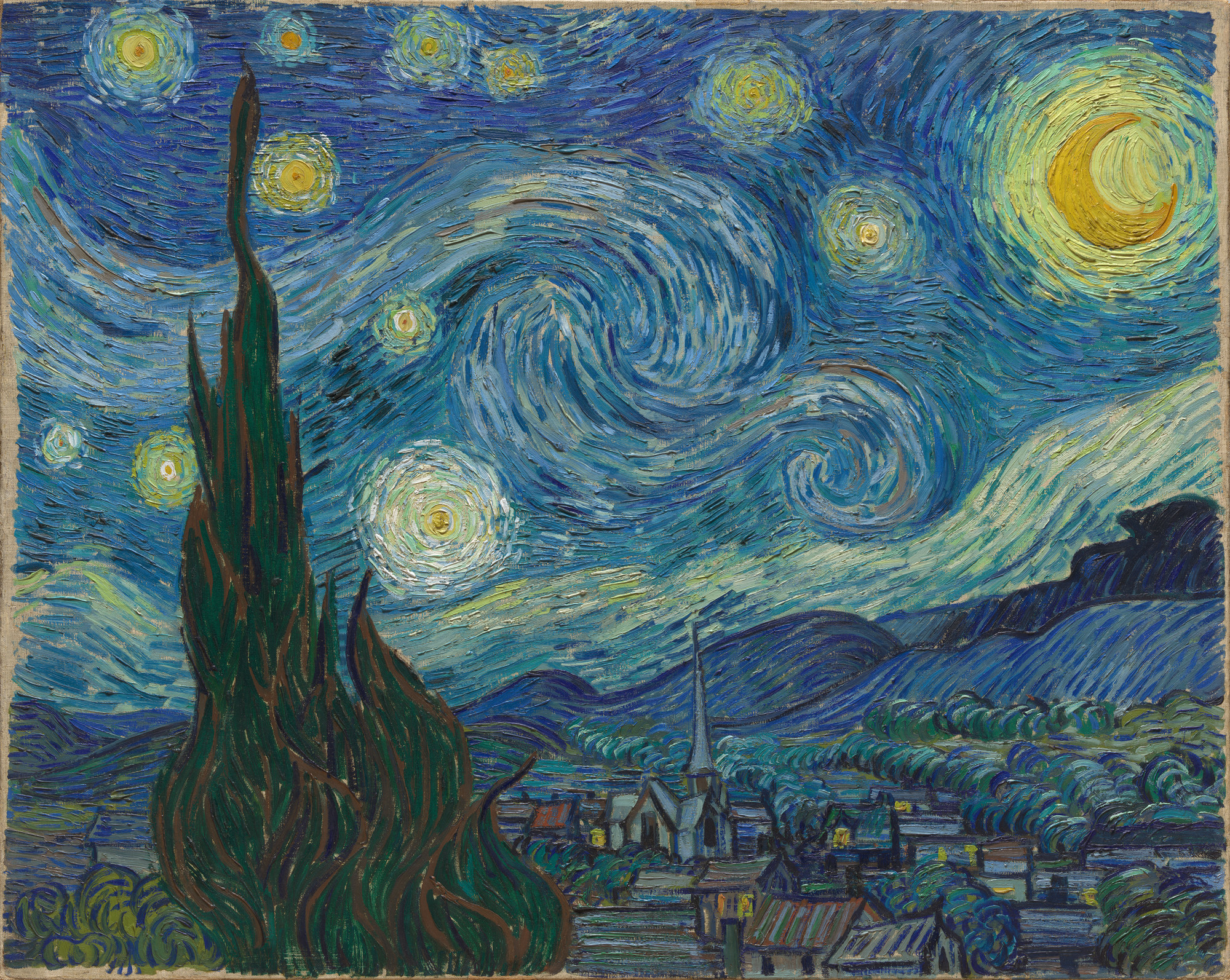 Vincent Van Gogh The Starry Night Saint Rémy June 1889 Moma