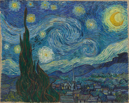 Vincent van Gogh. The Starry Night. Saint Rémy, June 1889