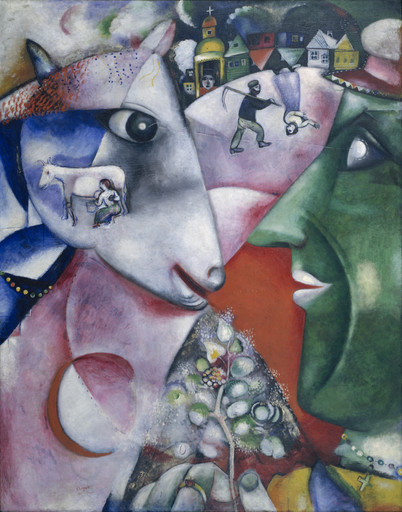 Marc Chagall. I and the Village. 1911