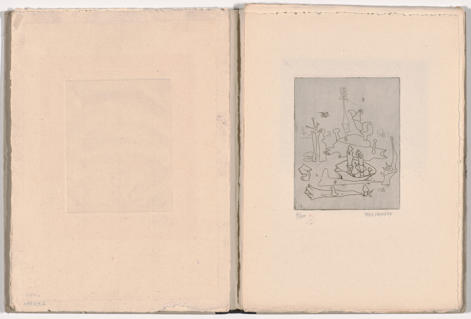 Yves Tanguy. Plate 3 from Solidarité (Solidarity). 1938