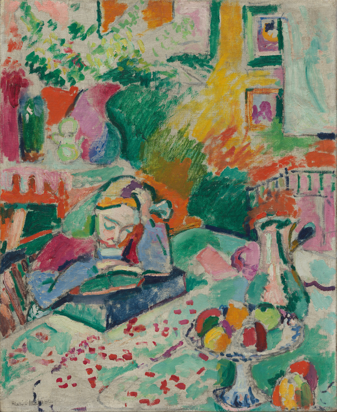 Henri Matisse. Interior with a Young Girl (Girl Reading). Paris 1905-06