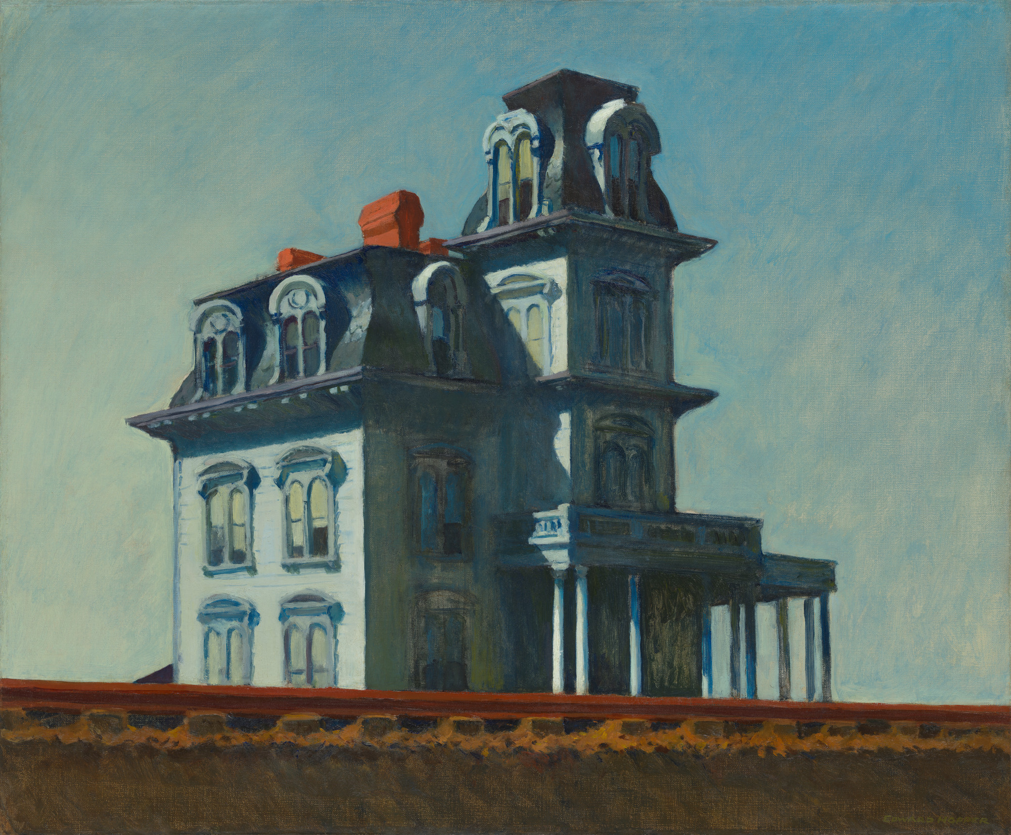 Edward Hopper. House by the Railroad. 1925