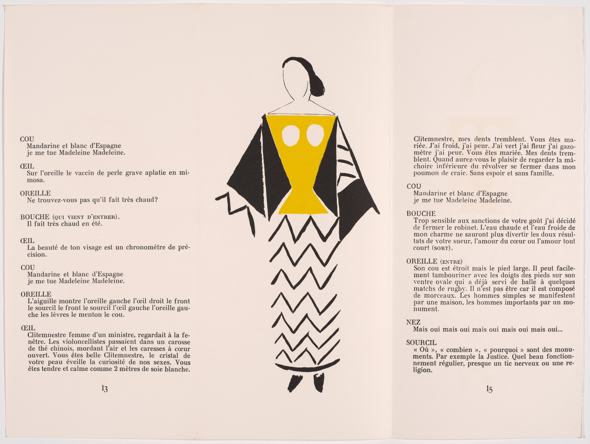 Sonia Delaunay-Terk. Plate (page 14) from Le Coeur à Gaz (The Gas Heart). 1923, published 1977