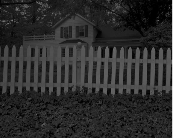 Dawoud Bey. Untitled # 1 (Picket Fence and Farmhouse) from the series Night Coming Tenderly, Black. 2017