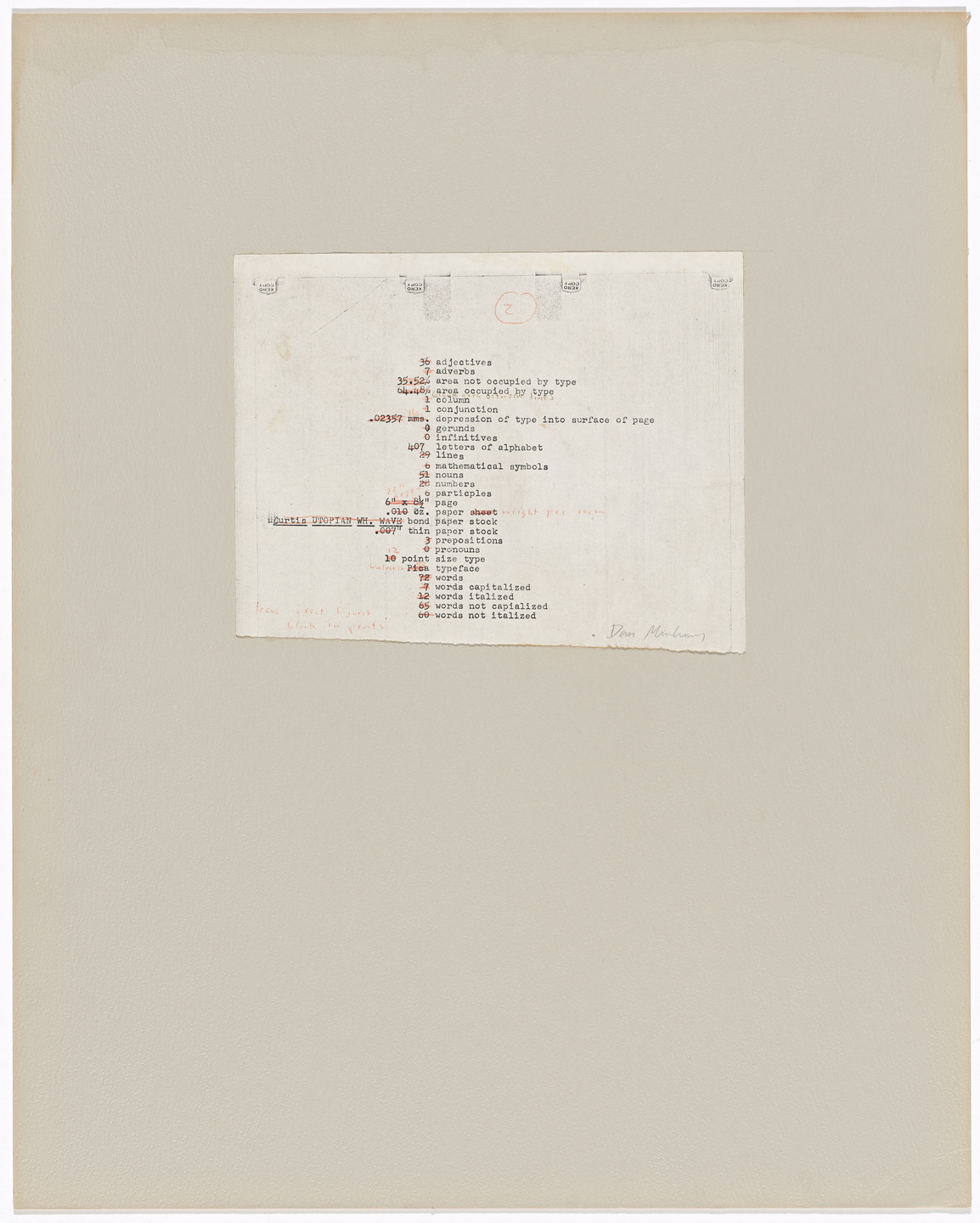Dan Graham. Schema (March 1966). 1966–70