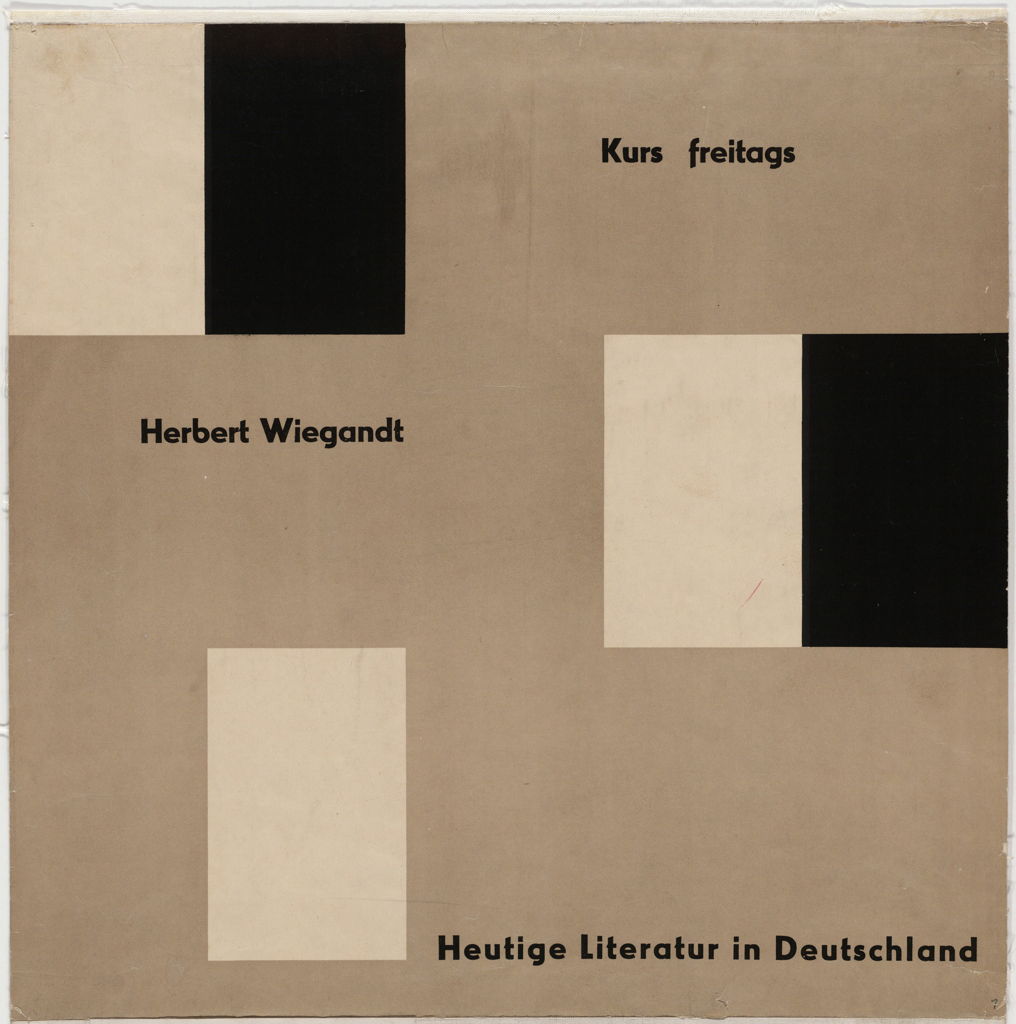 Otl Aicher (also known as Otto Aicher). Herbert Wiegandt - Heutige Literature in Deutschland. c. 1950