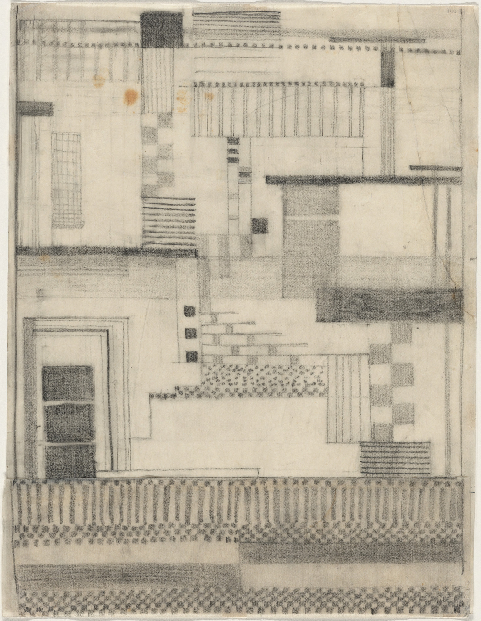Gunta Stölzl. Working Drawing for Wall Hanging. c. 1924