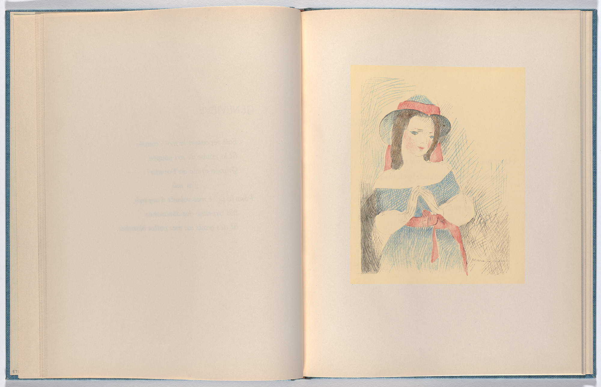 Marie Laurencin. Plate (folio 12) from Les Petites filles (The Little Girls). 1942